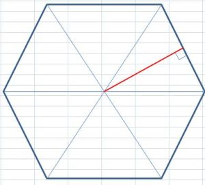 how to find area of hexagon with apothem