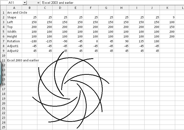 Drawing in Excel 5 – Shape List | Newton Excel Bach, not (just) an