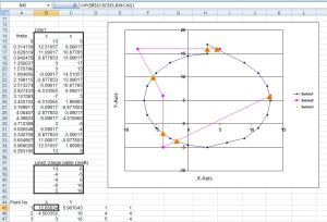 Intersection points of two polylines