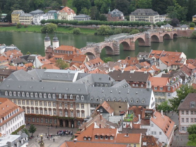 Heidelberg Old Bridge from the castle