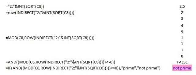 Breakdown of an array formula