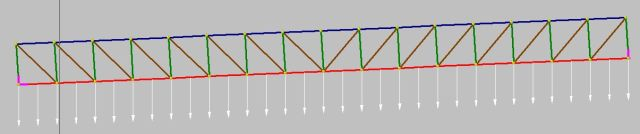 Inclined truss