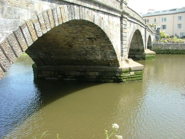 Arch bridge at Totnes, Devon