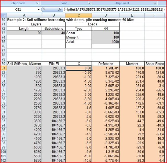 LatPile – Analysis of Lateral Loads on Piles | Newton Excel