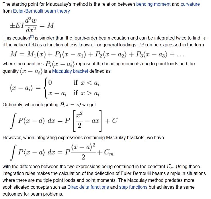 Beam actions and deflections by Macaulay's Method | Newton