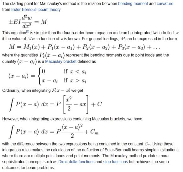 Beam actions and deflections by Macaulay's Method   Newton