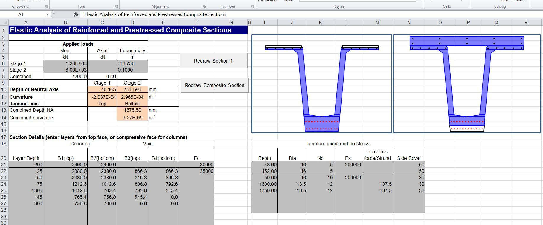 Composite Beam Spreadsheet 3 | Newton Excel Bach, not (just) an
