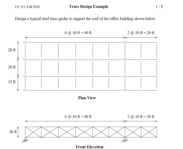 Truss Example - note that truss height should be 6 feet