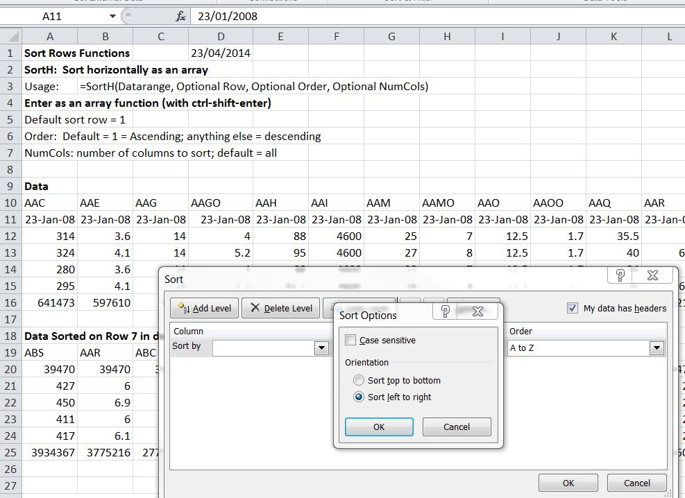 More Sort Functions | Newton Excel Bach, not (just) an Excel Blog
