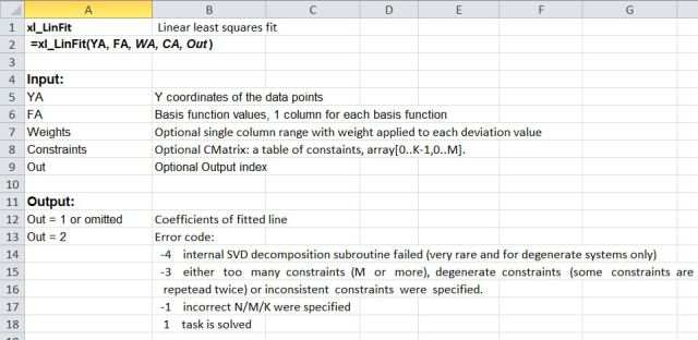 how to use linest in excel constraints
