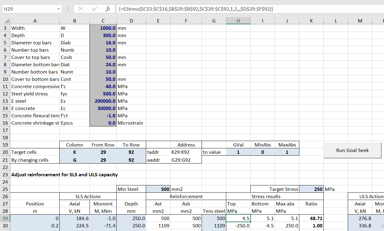 Automating Goal Seek with RC Design Functions   Newton Excel Bach ...