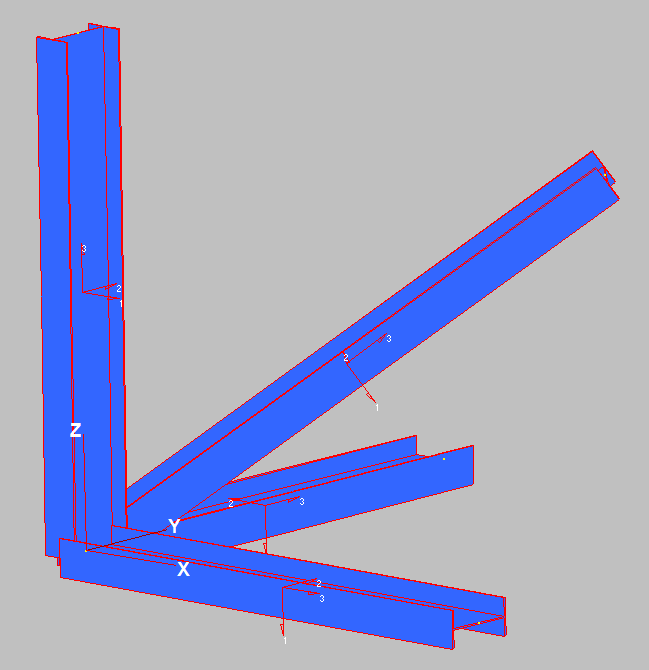 3D Frames, axes and stiffness matrices | Newton Excel Bach