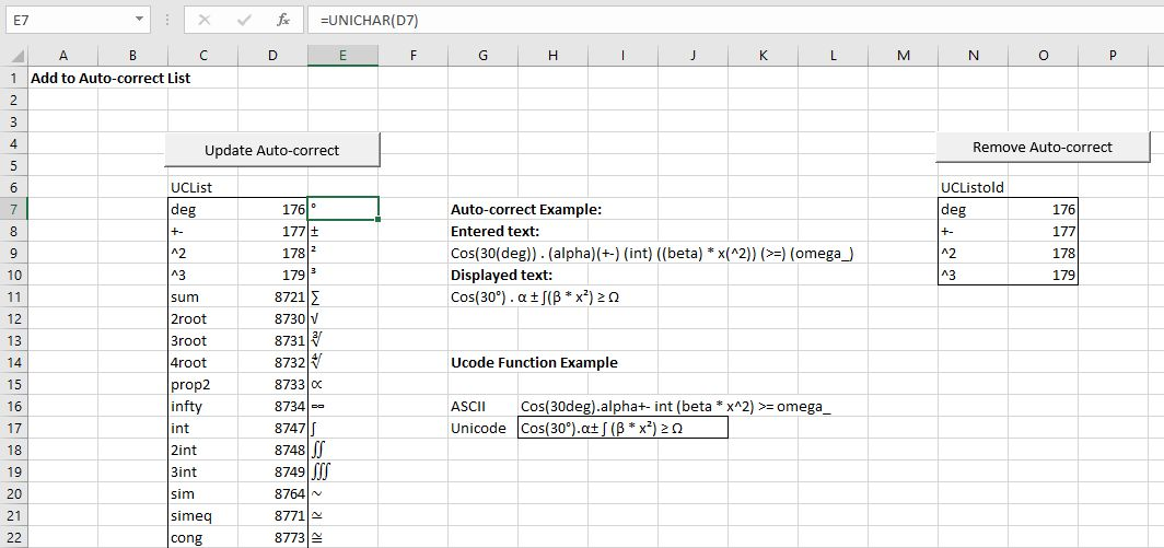 Taming Symbols In Excel Newton Excel Bach Not Just An Excel Blog