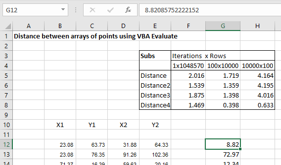 Using VBA Evaluate as an Array Function | Newton Excel Bach